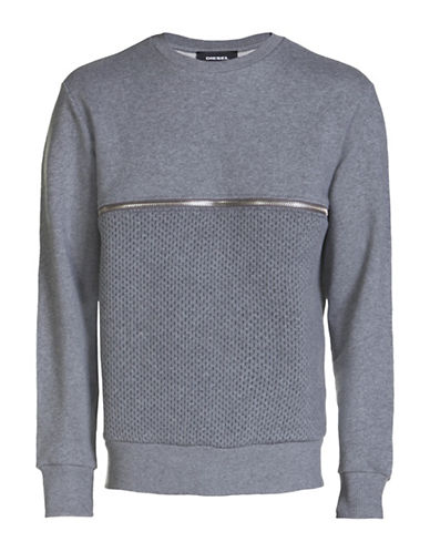 Diesel S-Dry Heathered Sweatshirt-GREY-Small 88871127_GREY_Small