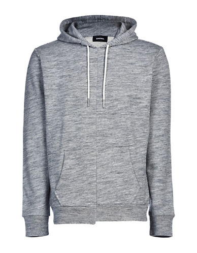 Diesel S-Rentals Melange French Terry Sweatshirt-GREY-Medium 88871244_GREY_Medium