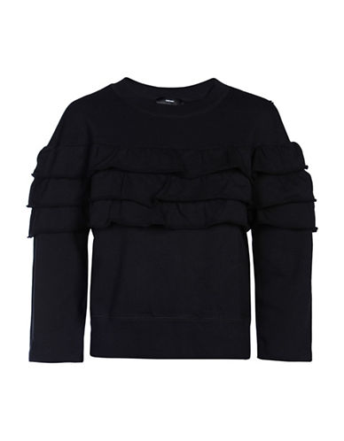 Diesel Ruffle Sweatshirt-BLACK-Medium 88901197_BLACK_Medium