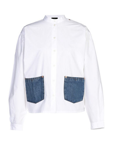 Diesel C-Portia Shirt-WHITE-X-Small