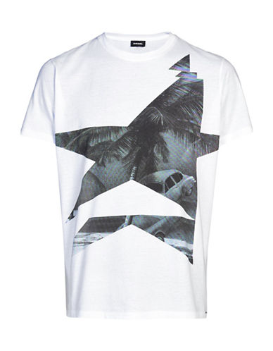 Diesel T-Joe Graphic Print T-Shirt-WHITE-XX-Large