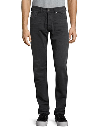 Diesel Buster Regular Slim Tapered Jeans-BLACK-33X34
