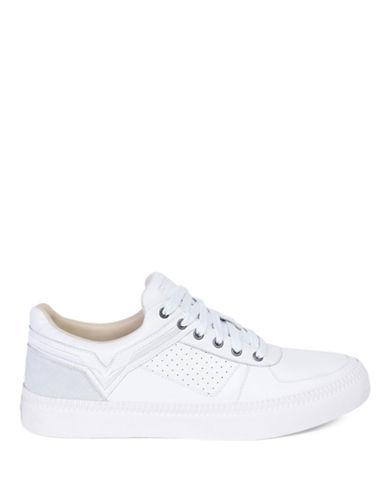 Diesel Spaark Perforated Leather Sneakers-WHITE-9