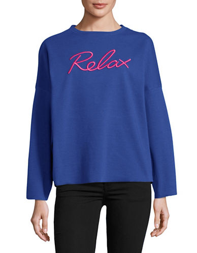 Diesel Gertrude Relax Sweatshirt-BLUE-Small