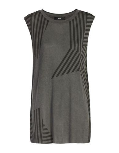Diesel T-Wessy Singlet Jersey Dress-BLACK-X-Small