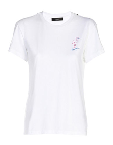 Diesel Sully Short Sleeve Tee-WHITE-Small 89040535_WHITE_Small