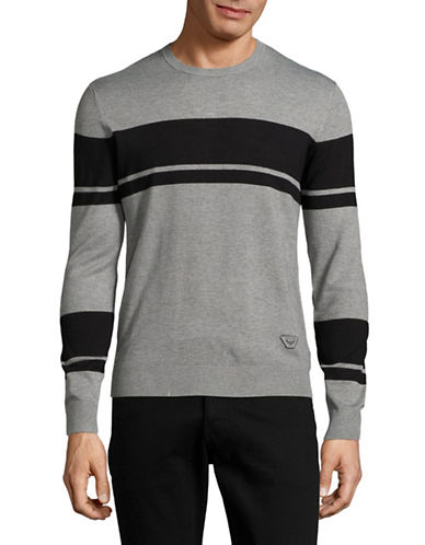 Armani Jeans Striped Sweater-GREY-X-Small 88884401_GREY_X-Small
