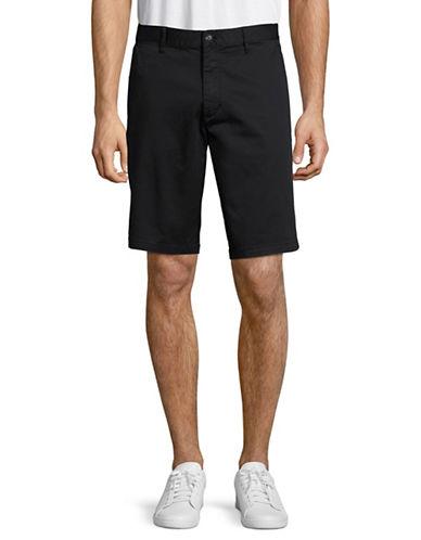 Armani Jeans Stretch Cotton Satin Shorts-BLUE-38