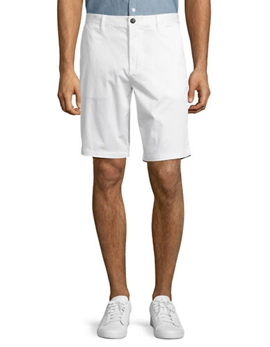 Armani Jeans Stretch Cotton Satin Shorts-WHITE-38
