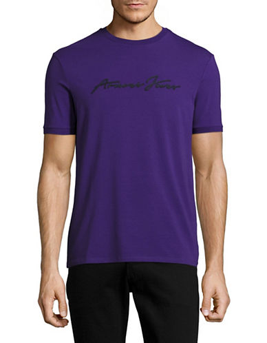 Armani Jeans Monochrome Stretch T-Shirt-PURPLE-Small