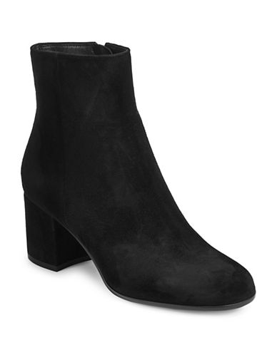 Gianvito Rossi Suede Ankle Boot-BLACK-EUR 36/US 6