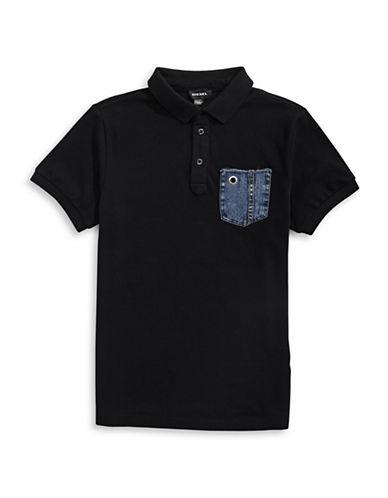 Diesel Denim Pocket Polo-BLACK-10 89229282_BLACK_10