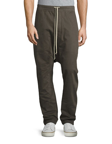 Rick Owens Drkshdw Slouchy Drawstring Twill Pants with Tote-DUST-Small