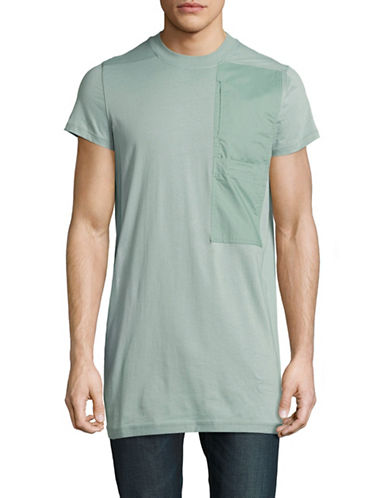 Rick Owens Drkshdw Short Sleeve Pocket Tee-BLUE-Small 88974084_BLUE_Small