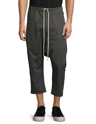 Rick Owens Drkshdw Drop-Crotch Woven Crop Pants-GREY-Small 88974095_GREY_Small