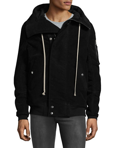 Rick Owens Drkshdw Imbottito Hooded Bomber Jacket-BLACK-Medium