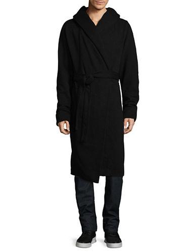Rick Owens Drkshdw Hooded Robe-BLACK-Small