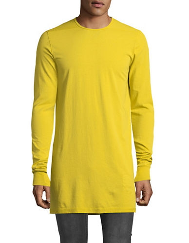 Rick Owens Drkshdw Long Cotton Tee-YELLOW-Medium