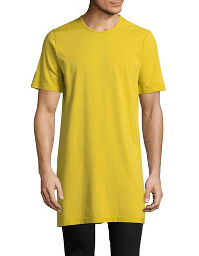 Rick Owens Drkshdw Long Cotton Tee-YELLOW-X-Small