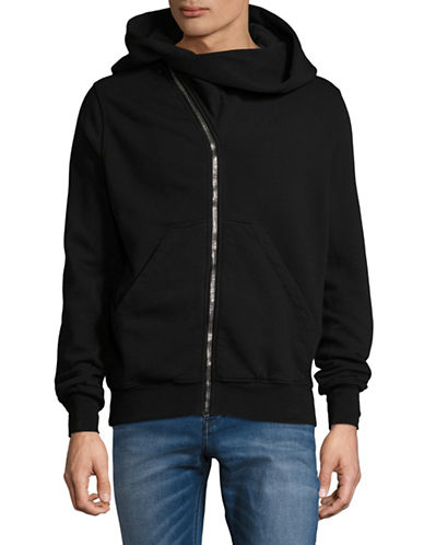 Rick Owens Drkshdw Mountain Zip-Front Hoodie-BLACK-Medium