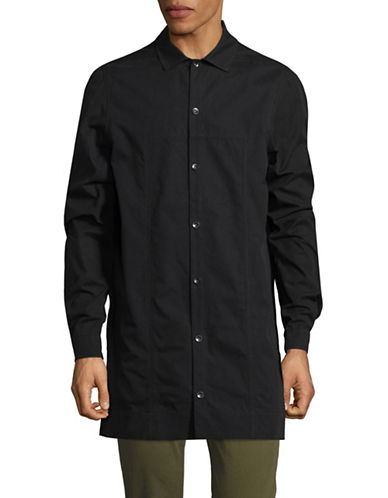 Rick Owens Drkshdw Long Sleeve Sportshirt-BLACK-Medium