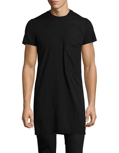 Rick Owens Drkshdw Long Cotton Tee-BLACK-Large