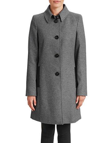 Armani Jeans Wool-Cashmere Blend Coat-GREY-12 87842901_GREY_12