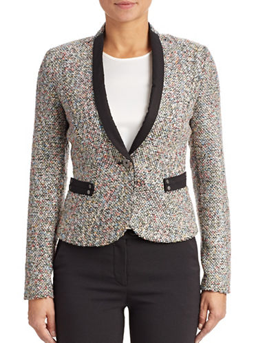 Armani Jeans Boucle Knit Jacket-MULTI-8
