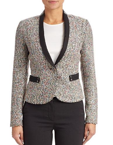 Armani Jeans Boucle Knit Jacket-MULTI-8