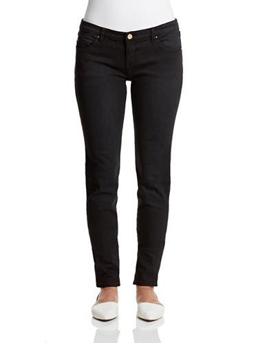 Armani Jeans Logo Hardware Skinny Jeans-BLACK-28