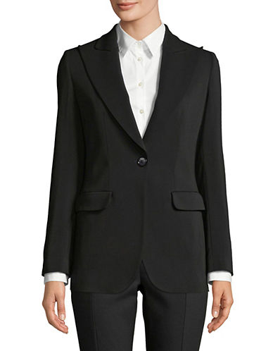 Emporio Armani Basic Wide Lapel Jacket-BLACK-EUR 38/US 2