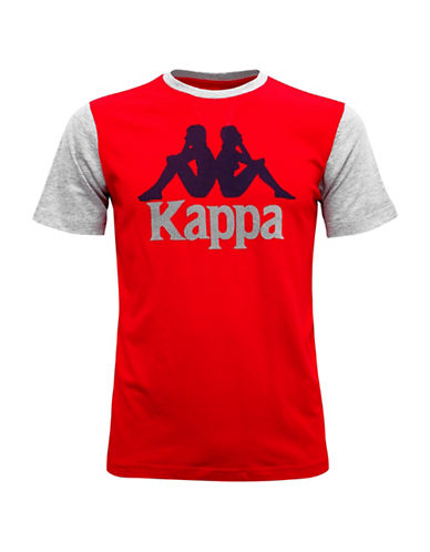 Kappa Contrast Graphic T-Shirt-RED-Large 88866626_RED_Large