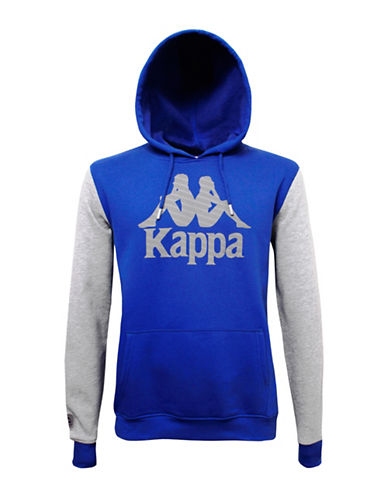 Kappa Front Print Hooded Sweater-BLUE-Small 88866649_BLUE_Small