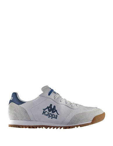 Kappa Mens Low-Cut Fashion Sneakers-WHITE/NAVY-8