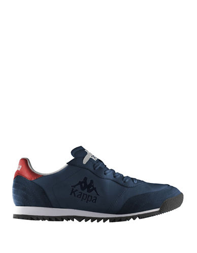 Kappa Mens Low-Cut Fashion Sneakers-BLUE/RED/WHITE-12