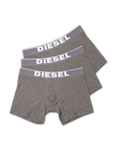 Diesel Three-Pack Sebastian Boxer Shorts-GREY-X-Large