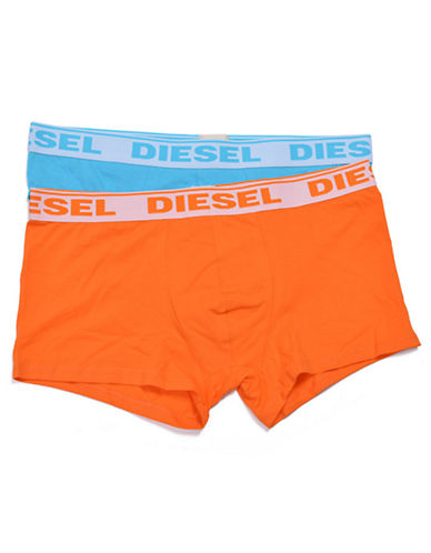 Diesel Two-Pack Shawn Boxer Briefs-BLUE-Large