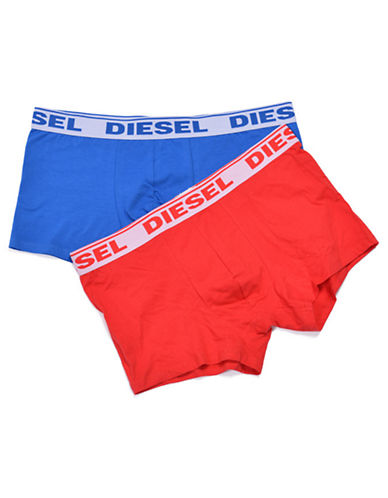 Diesel Two-Pack Shawn Boxer Briefs-RED-Small