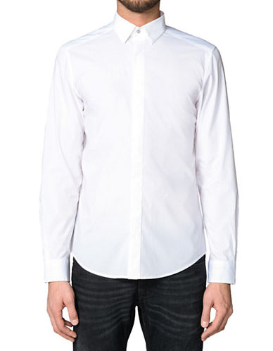 Diesel Solid Shirt-WHITE-XX-Large