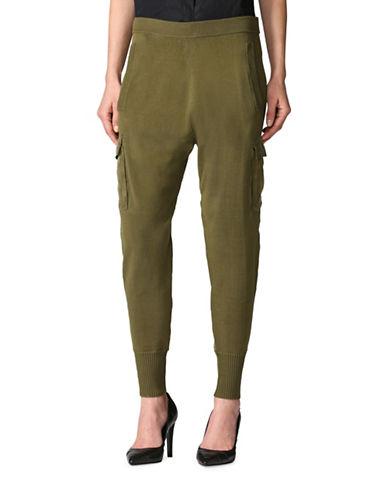 Diesel Knit Cargo Pants-GREEN-X-Small