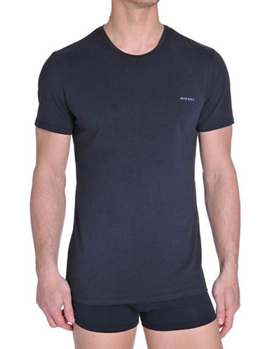Diesel Three-Pack Jake Crew T-Shirts-BLACK-Small