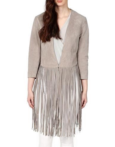 Soia & Kyo Romie Leather Fringe Jacket-BEIGE-Medium 88071783_BEIGE_Medium