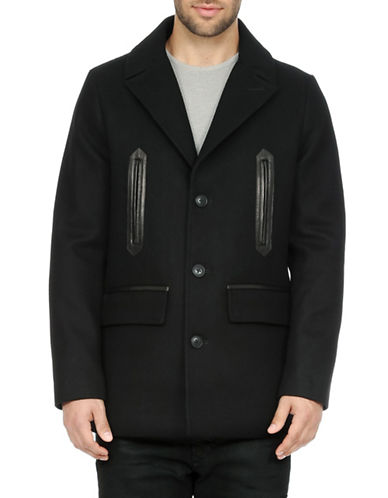 Soia & Kyo Gordon Classic Wool-Blend Jacket-BLACK-Large