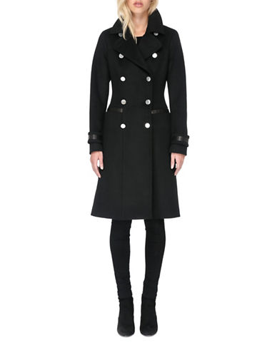 Soia & Kyo Juliana Knee-Length Coat-BLACK-Large