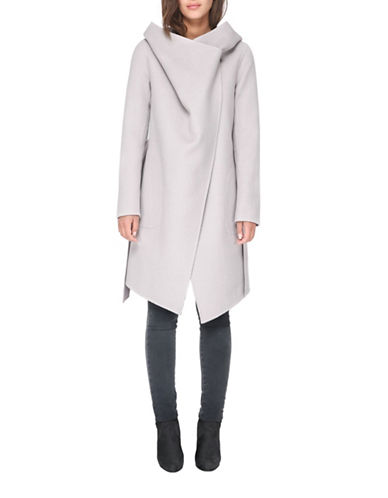 Soia & Kyo Samia Above Knee-Length Coat-PUTTY-Small