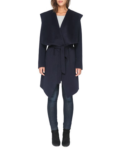 Soia & Kyo Samia Above Knee-Length Coat-INDIGO-X-Large
