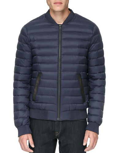 Soia & Kyo Dominic Bomber with Down Fill-BLUE-Large