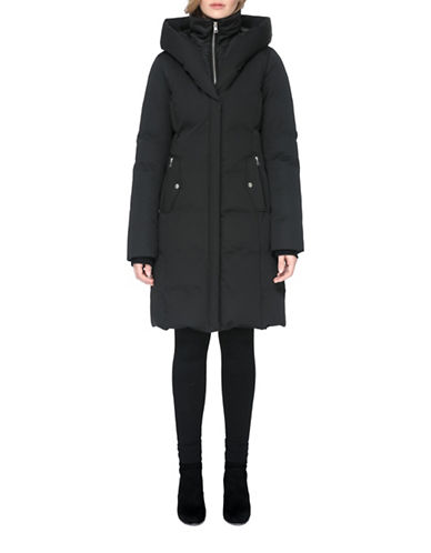 Soia & Kyo Annalise Mid-Length Down Filled Coat-BLACK-X-Large
