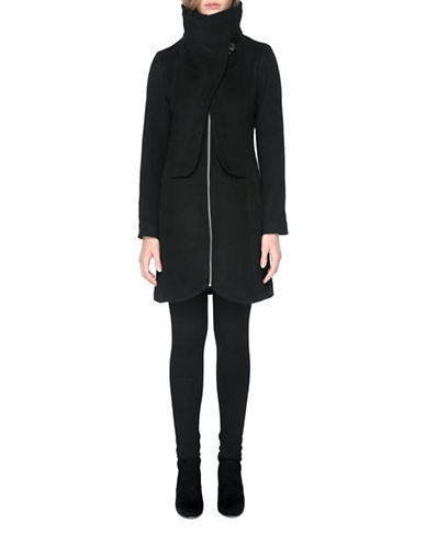 Soia & Kyo Flavie Mid-Length Coat-BLACK-X-Large