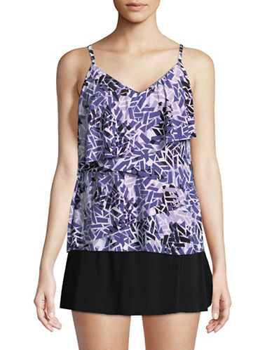 Magic Suit By Miraclesuit Chloe Tankini Top-PURPLE-12